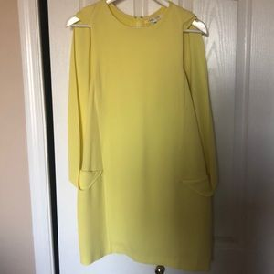 Ohne Titel yellow faux cape dress